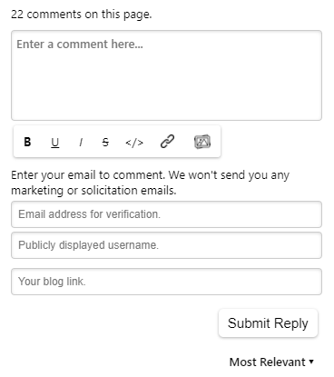 Commenter Link Input